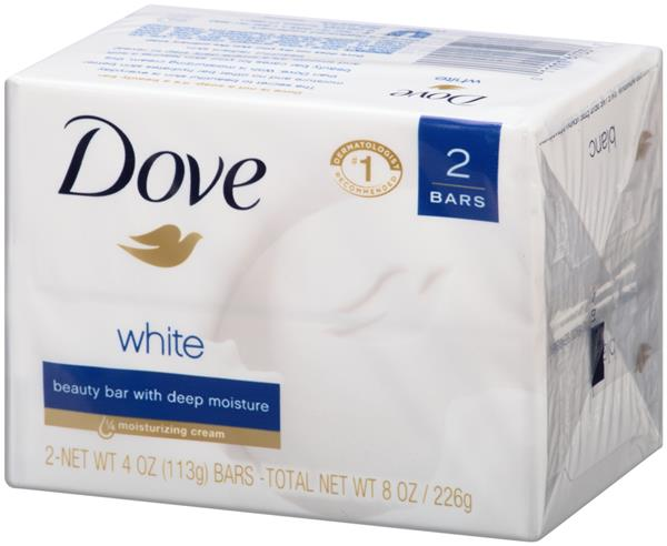 Dove White Bath Bars 2Ct