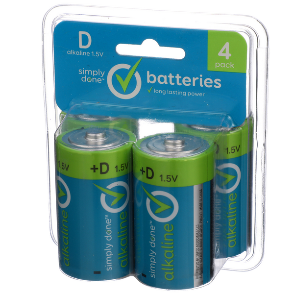 Simply Done D Batteries