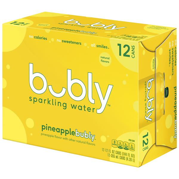 Bubly Sparkling Water Pineapple 12Pk