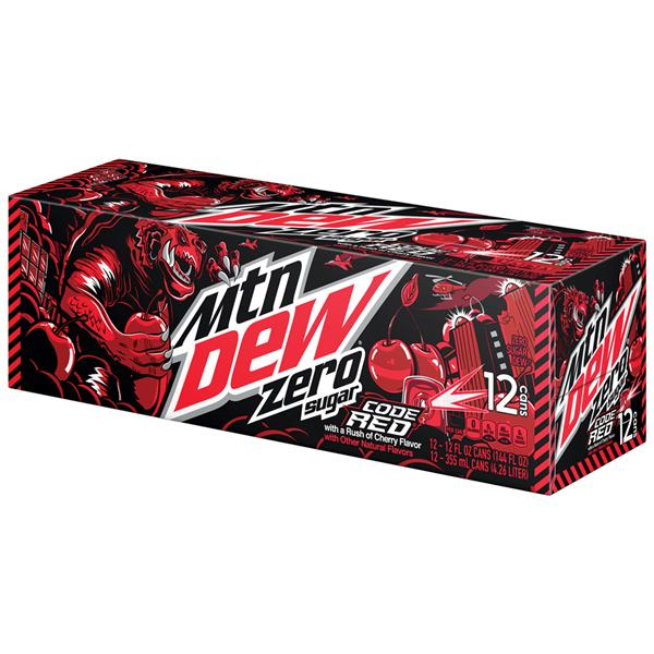 Diet Mountain Dew Code Red 12 Pack