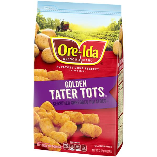 Ore-Ida Golden Tater Tots Seasoned Shredded Potatoes