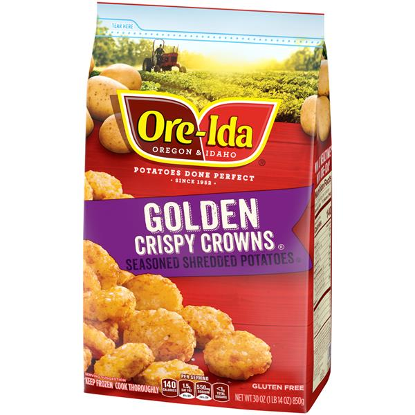 Ore-Ida Crispy Crowns! Seasoned Shredded Potatoes