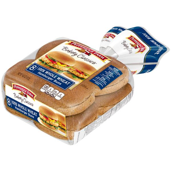 Pepperidge Farm Bakery Classics Whole Wheat Hamburger Buns 8Ct