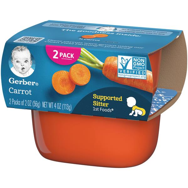 Gerber 1st Foods Carrot 2-2 oz Cups