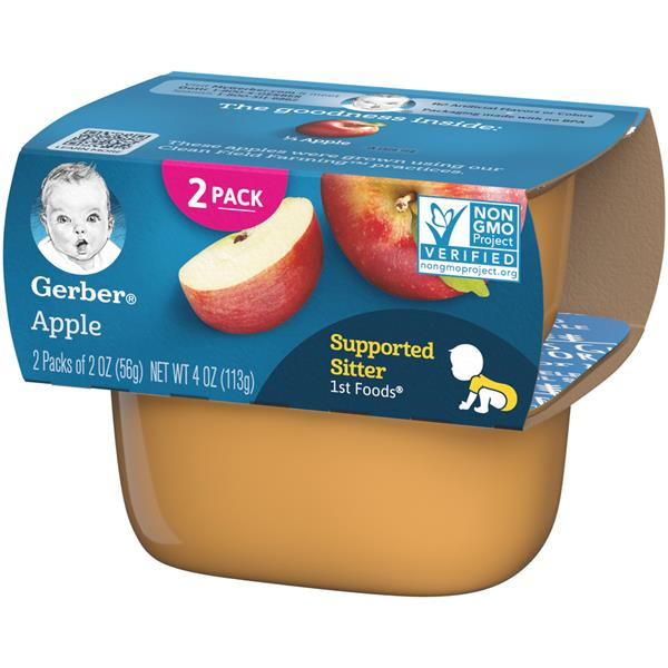 Gerber 1st Foods Apple 2-2 oz. Cups