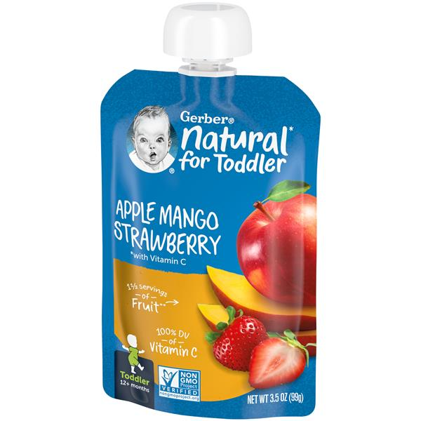 Gerber Toddler Apple Mango Strawberry