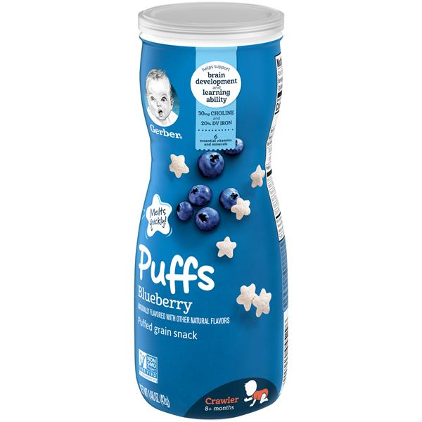 Gerber Crawler Puffs Blueberry