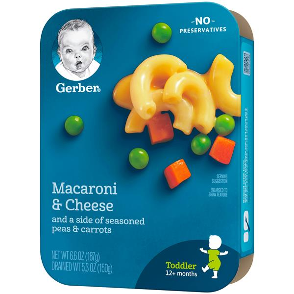 Gerber Lil' Entrees Macaroni & Cheese with Seasoned Peas & Carrots