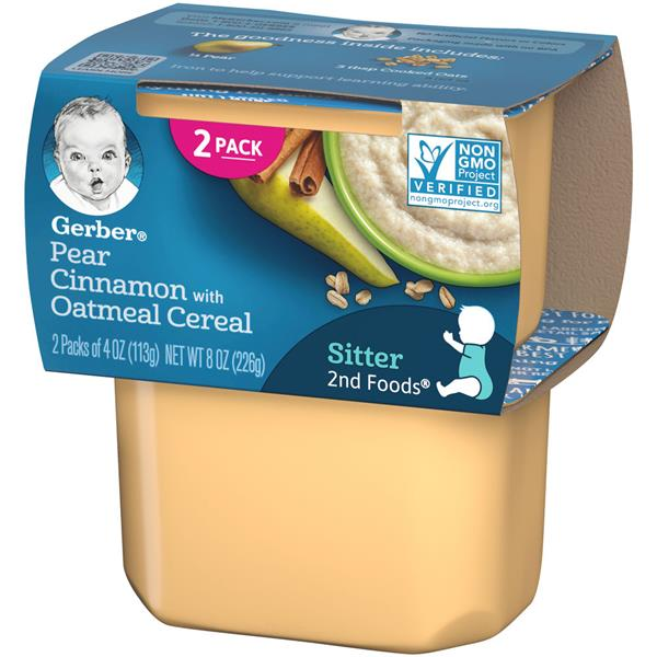Gerber 2nd Foods Vitablocks Pears & Cinnamon with Oatmeal 2 Pack