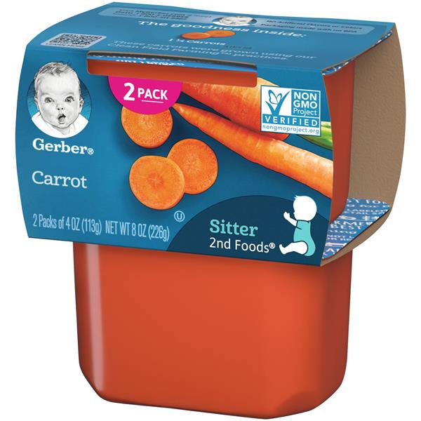 Gerber 2nd Foods Carrots Baby Food 2Ct