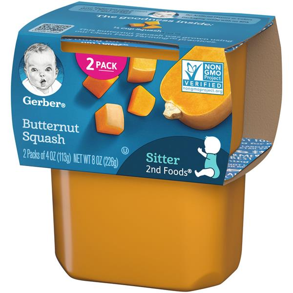 Gerber 2nd Foods Butternut Squash 2-4 oz