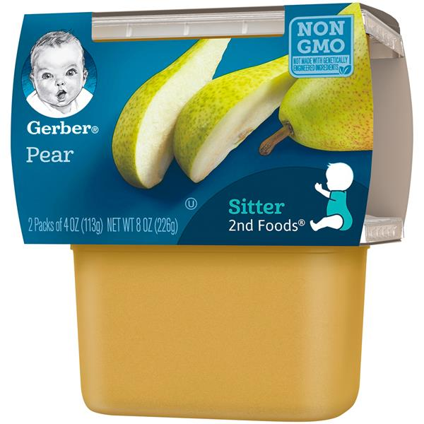 Gerber 2nd Foods Pears Baby Food 2Ct