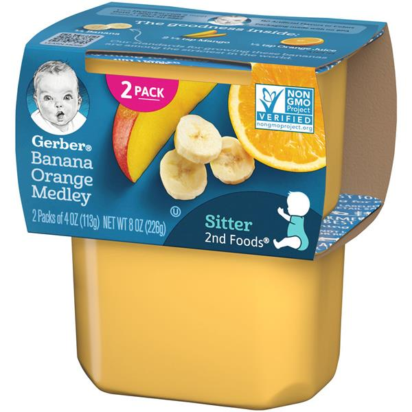 Gerber 2nd Foods Banana Orange Medley Baby Food 2 Pack