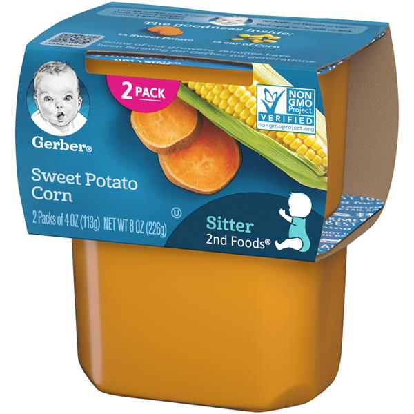 Gerber 2nd Foods Sweet Potatoes & Corn 2 Pack