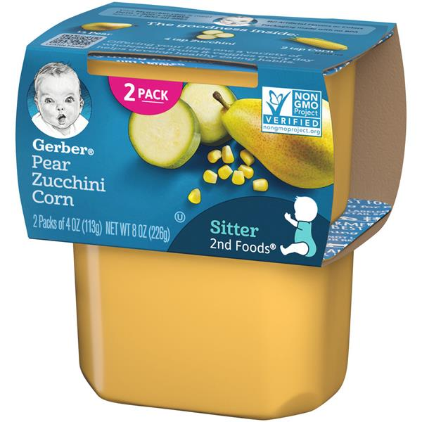 Gerber 2nd Foods Pear Zucchini Corn 2 Pack