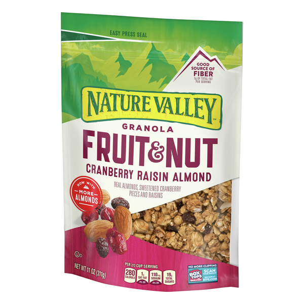 Nature Valley Granola, Fruit & Nut, Cranberry Raisin & Almond