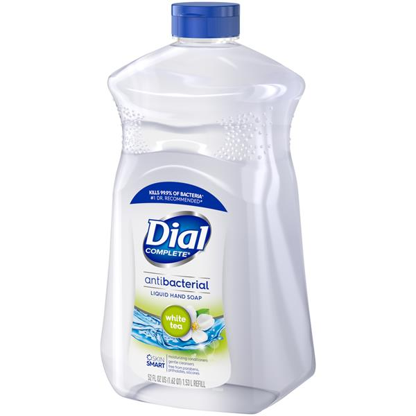 Dial White Tea & Vitamin E Antibacterial Hand Soap Refill