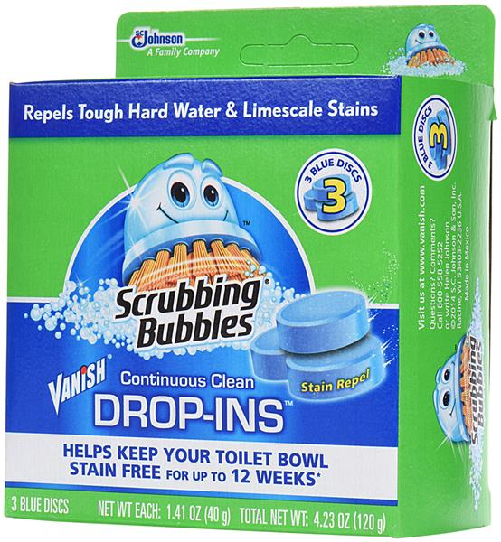 Scrubbing Bubbles Vanish Continuous Clean Drop-Ins Blue Discs Toilet Cleaner 3Ct