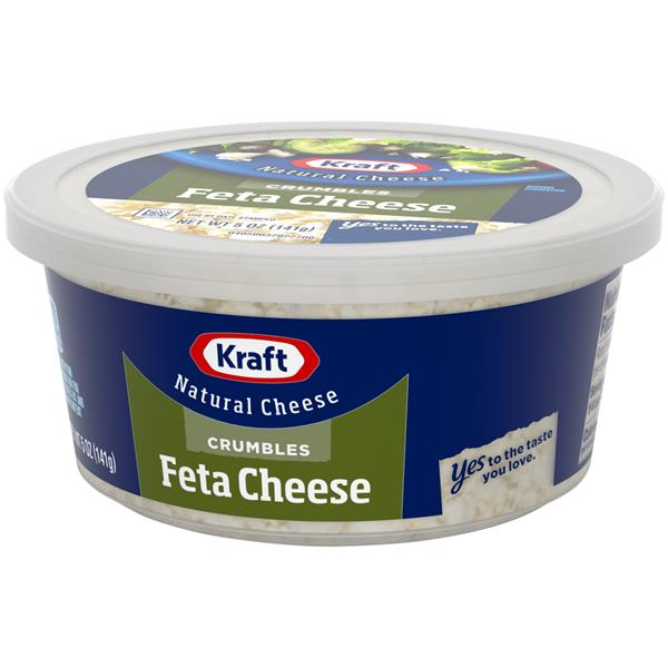Kraft Natural Cheese Feta Cheese Crumbles
