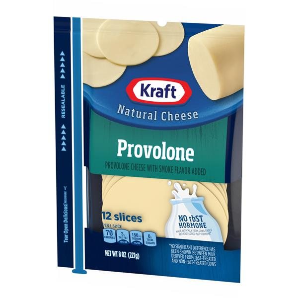 Kraft Natural Cheese Provolone Cheese Slices 12Ct