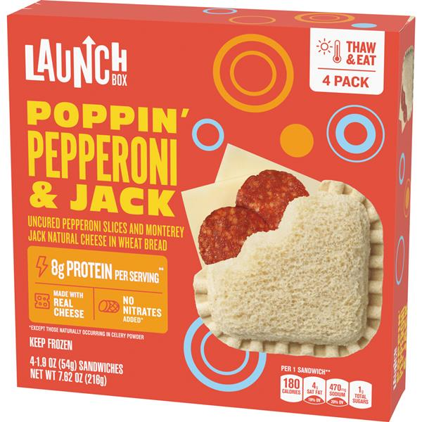 Launch Box Poppin' Pepperoni & Jack Sandwiches 4Ct
