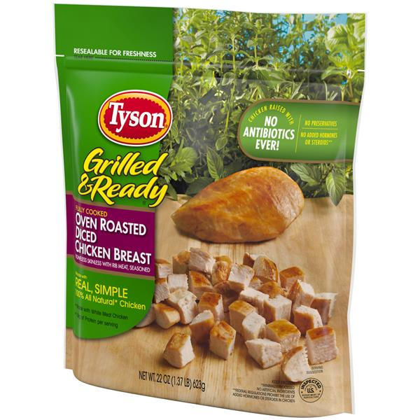 Tyson Grilled & Ready Oven Roasted Diced Chicken Breast