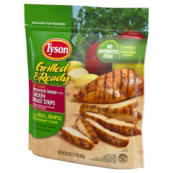 Tyson Grilled & Ready Applewood Smoke Flavored Chicken Breast Strip