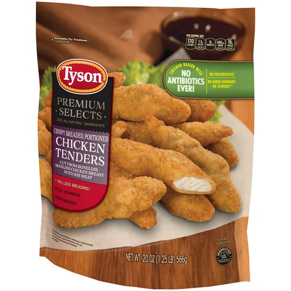 Tyson Premium Selects Crispy Breaded Chicken Tenders