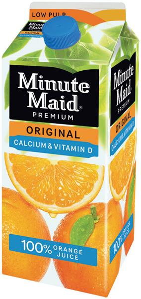 Minute Maid Premium Original Calcium + Vitamin D Low Pulp 100% Orange Juice