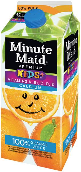 Minute Maid Kids+ 100% Orange Juice with Vitamins & Calcium