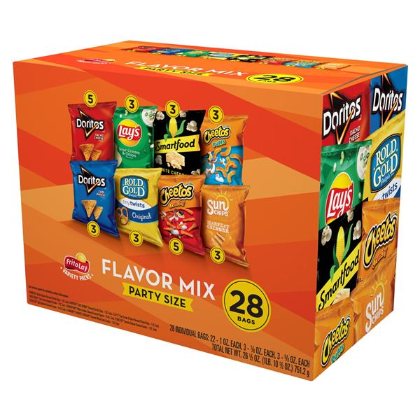 Frito-Lay Fun Times Party Mix Variety Pack 28 Ct
