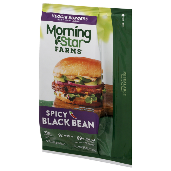 Morning Star Farms Spicy Black Bean Burgers 4Ct
