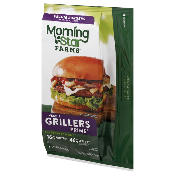 Morning Star Farms Grillers Prime Burgers 4Ct