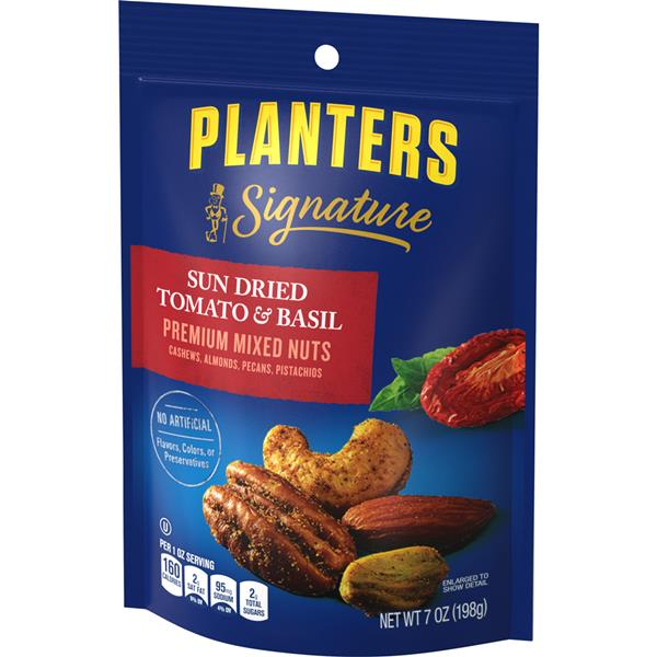 Planters Signature Sun Dried Tomato & Basil Premium Mixed Nuts 7 oz on planters roasted almonds, illuminati planters nuts, planters beer nuts, planters big nut bars, walgreens nice nuts, planters tube nuts, planters nutmobile, planters cashews, d's nuts, planters deluxe nuts, planters macadamia nuts, planters holiday 3-pack, planters holiday nuts, planters peanuts, men's health planters nuts, planters energy mix nuts, planters dry roasted, planters cocoa almonds walmart, seasonal planters nuts, planters nuts and chocolate,