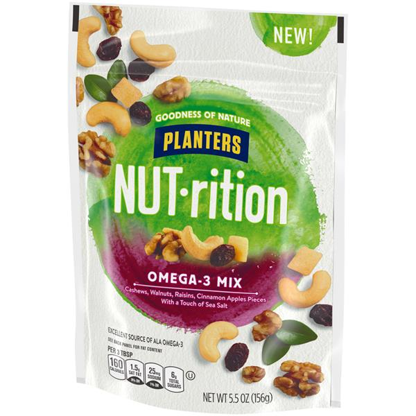 Planters NUT-rition Omega-3 Mix 5.5 oz. Bag