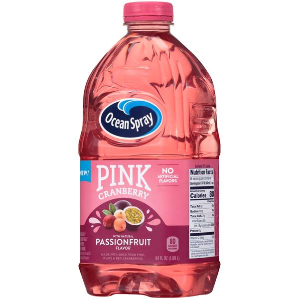 Ocean Spray Pink Cranberry Passionfruit Flavored Juice Drink