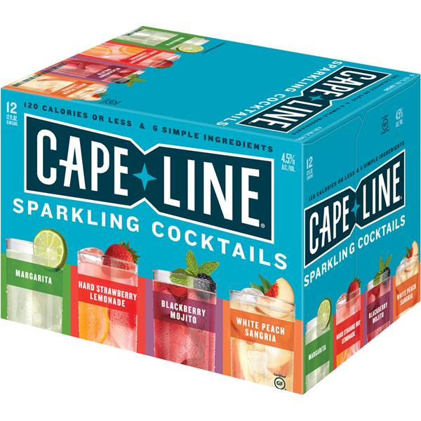Cape Line Sparkling Cocktail Variety, 12Pk, 4.5% ABV