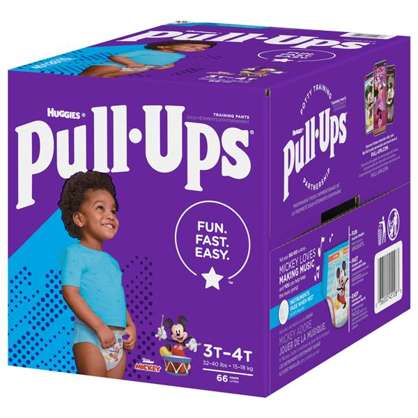 Huggies Pull-Ups Training Pants Disney Learning Designs Boys 3T-4T