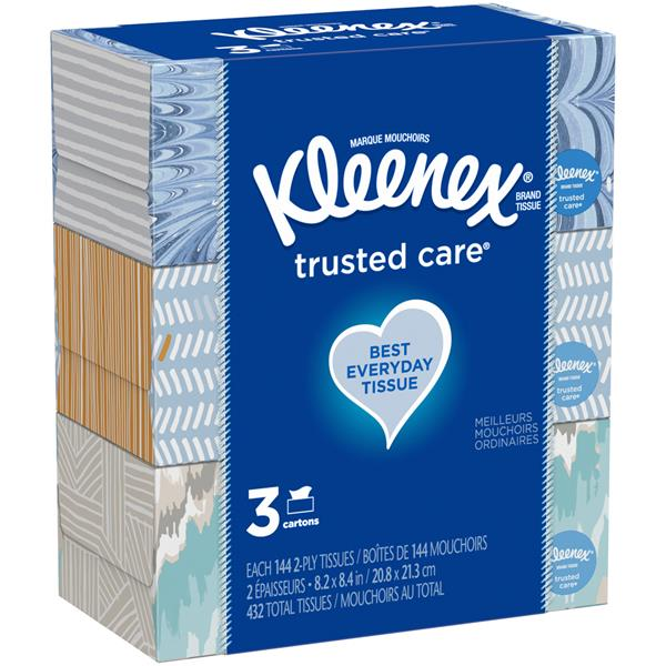 Kleenex Trusted Care Everyday Facial Tissues, 3Pk