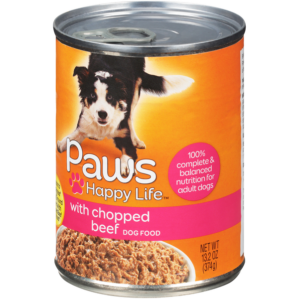 Paws Happy Life with Chopped Beef Dog Food