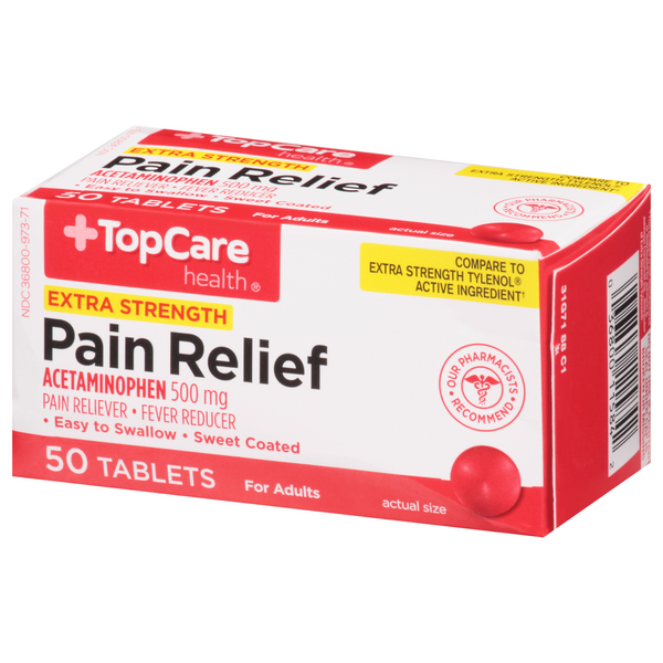 TopCare Extra Strength Pain Relief 500Mg Tablets