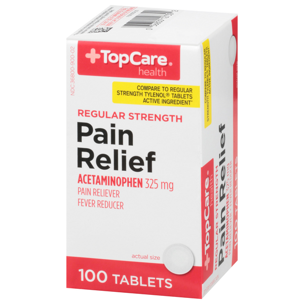 TopCare Pain Relief Regular Strength Tablets 325mg