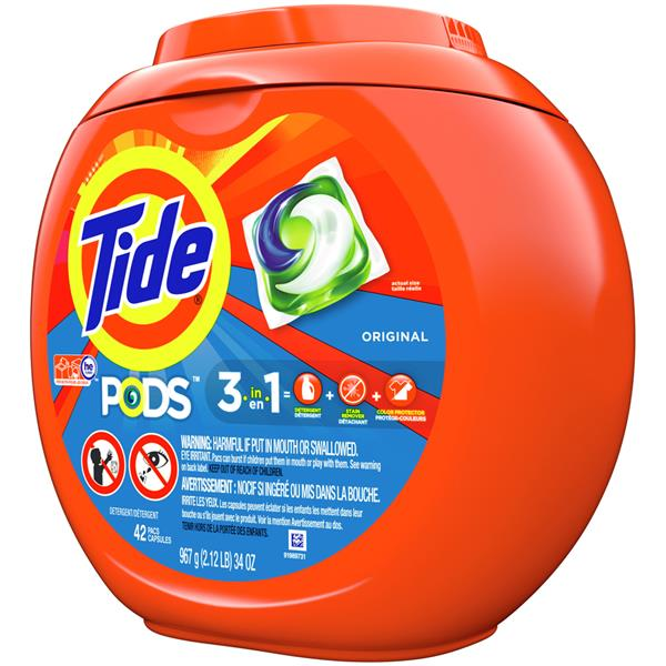 Tide PODS Laundry Detergent Original Designed for Regular and HE Washers 42Ct