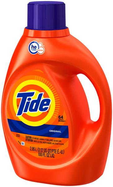 Tide HE Original Scent Liquid Laundry Detergent, 64 load