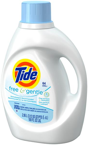 Tide Free & Gentle Liquid Laundry Detergent 64 Load