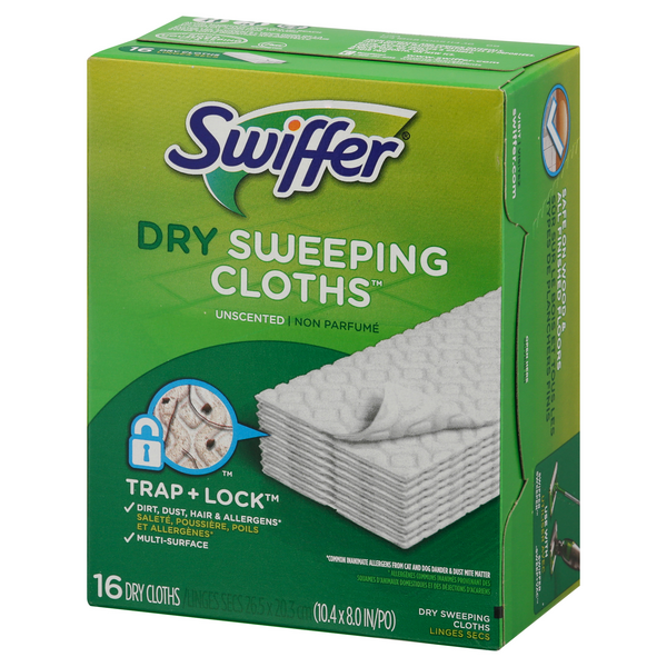 Swiffer Sweeper Dry Sweeping Pad Refills Unscented 16 CT