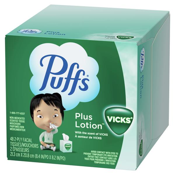 Puffs Plus Lotion With the Scent of Vicks Facial Tissues