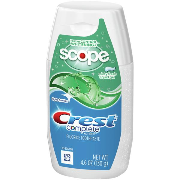 Crest Complete Scope Tartar Control Whitening Minty Fresh Liquid Gel