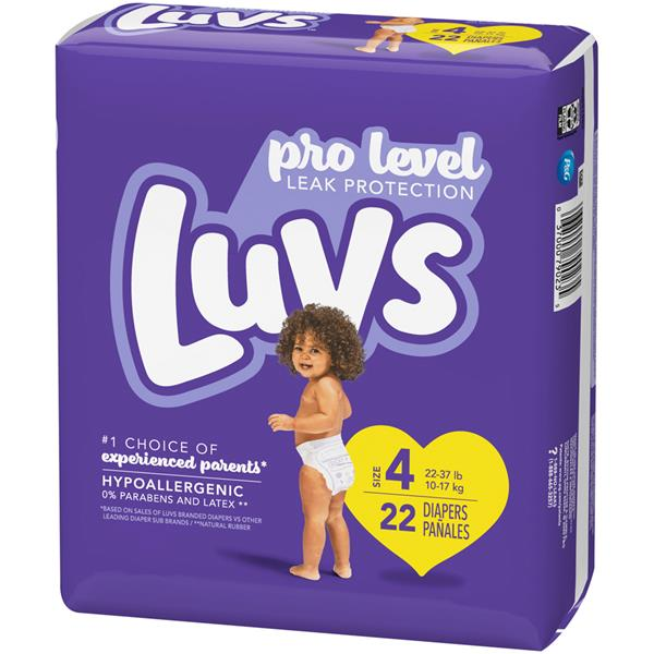 Luvs Convience Pack Size 4 Baby Diapers