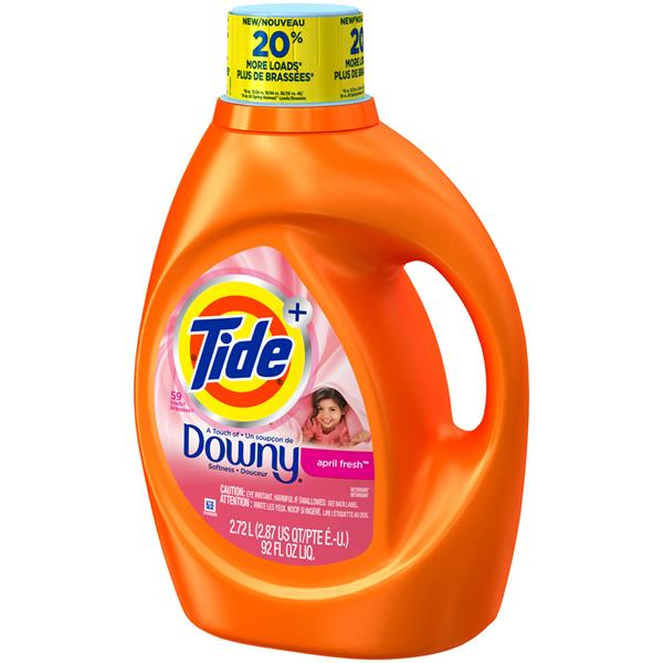 Tide Plus a Touch of Downy April Fresh Scent Liquid Laundry Detergent Bottle